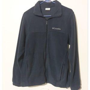 Columbia fleece zip up jacket dark blue